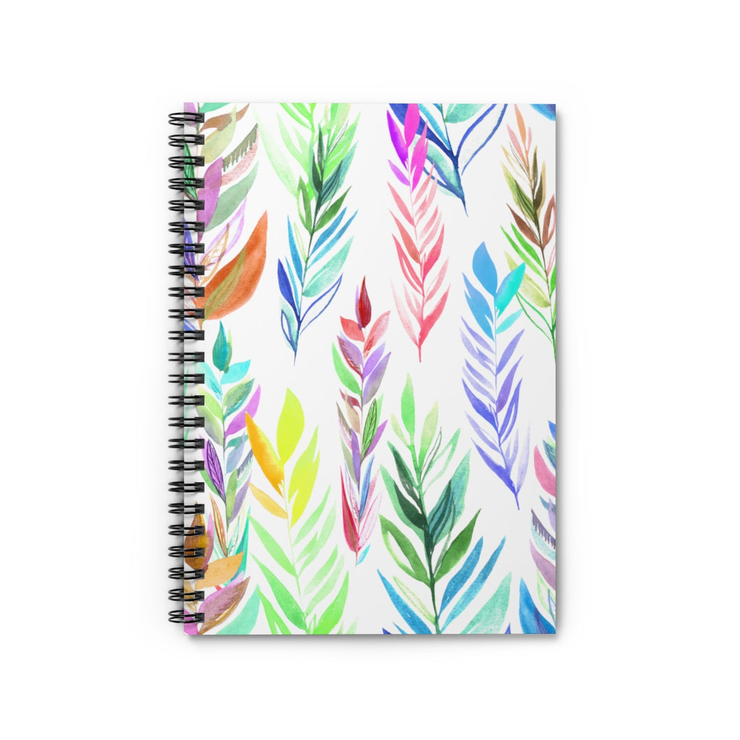 Spiral Notebook Ruled Line Colorful Branches