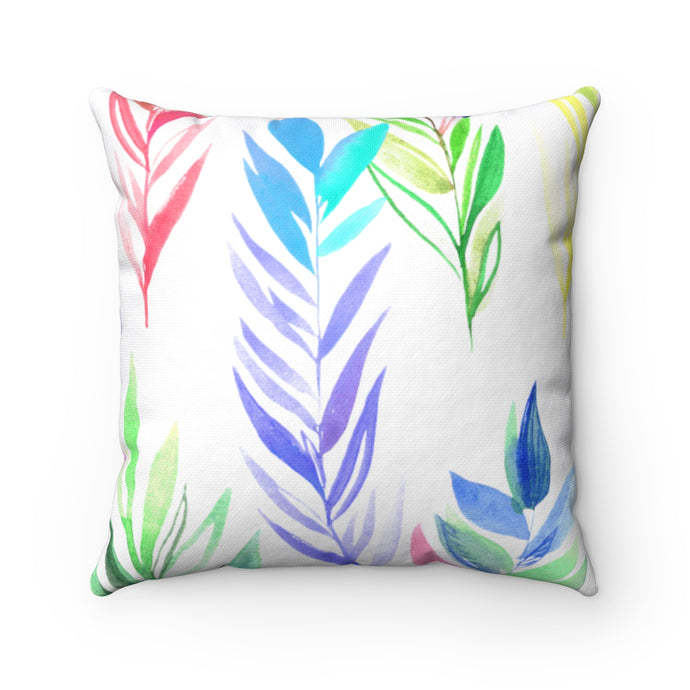 Spun Polyester Square Pillow Colorful Branches