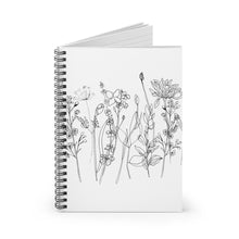 Load image into Gallery viewer, Spiral Notebook Ruled Line Wildflowers