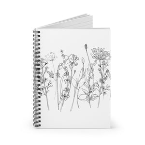 Spiral Notebook Ruled Line Wildflowers