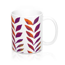 Load image into Gallery viewer, Mug Purple Leaves 11oz