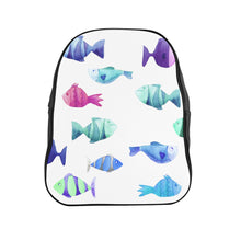 Load image into Gallery viewer, School Backpack Fish