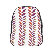 Load image into Gallery viewer, School Backpack Purple Leaves