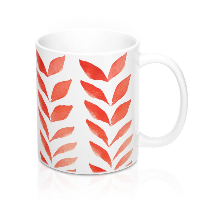 Mug Red Leaves 11oz