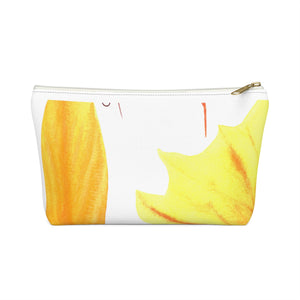 Accessory Pouch w T-bottom Autumn Leaves and Branches