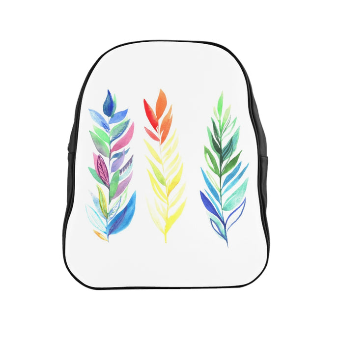 School Backpack Three Colorful Branches