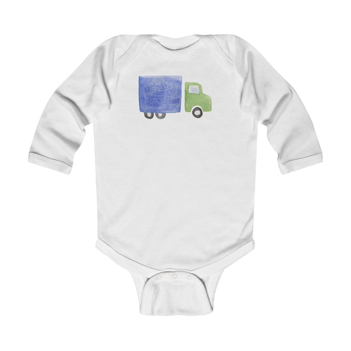 Infant Long Sleeve Bodysuit Truck