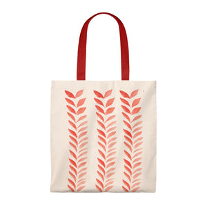 Tote Vintage Bag Red Leaves