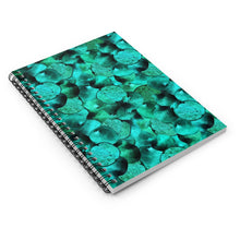 Load image into Gallery viewer, Spiral Notebook Ruled Line Green Garnet