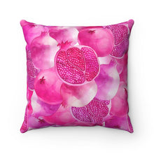 Load image into Gallery viewer, Spun Polyester Square Pillow Pink Garnet