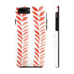 Case Mate Tough Phone Cases Red Leaves