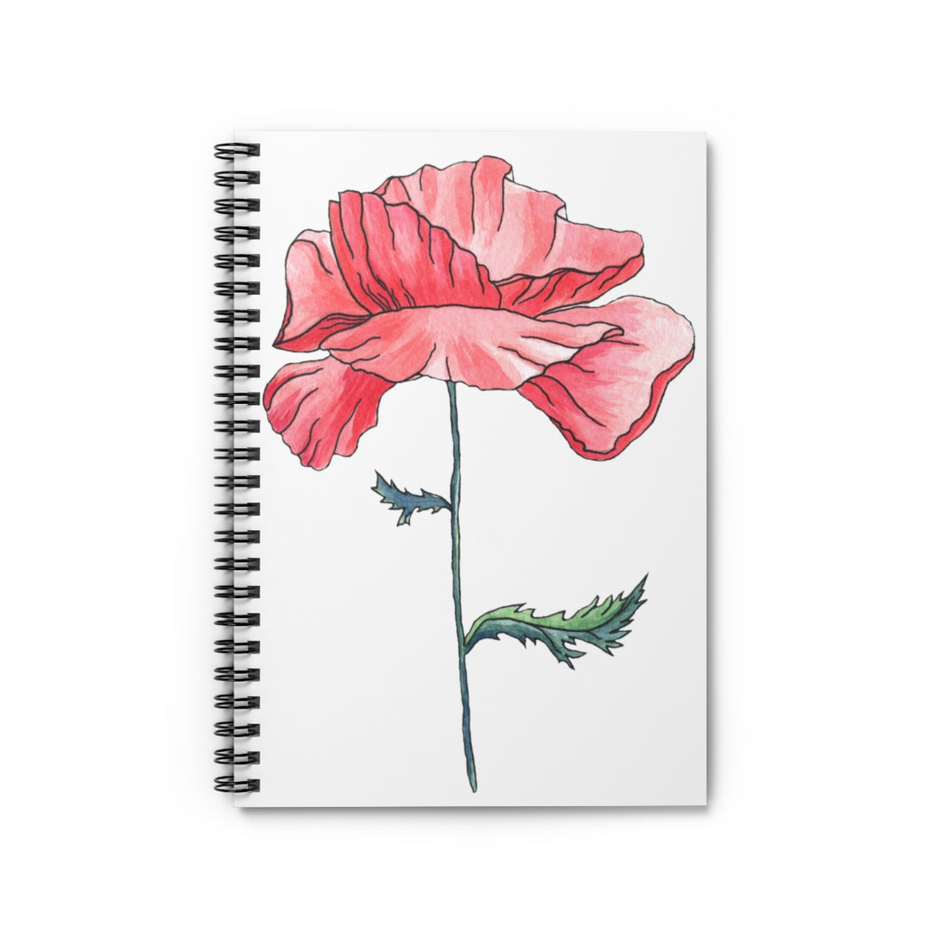 Spiral Notebook Ruled Line Poppy