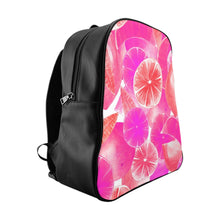 Load image into Gallery viewer, School Backpack Pink Citrus