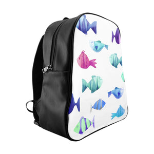School Backpack Fish