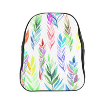 Load image into Gallery viewer, School Backpack Colorful Branches