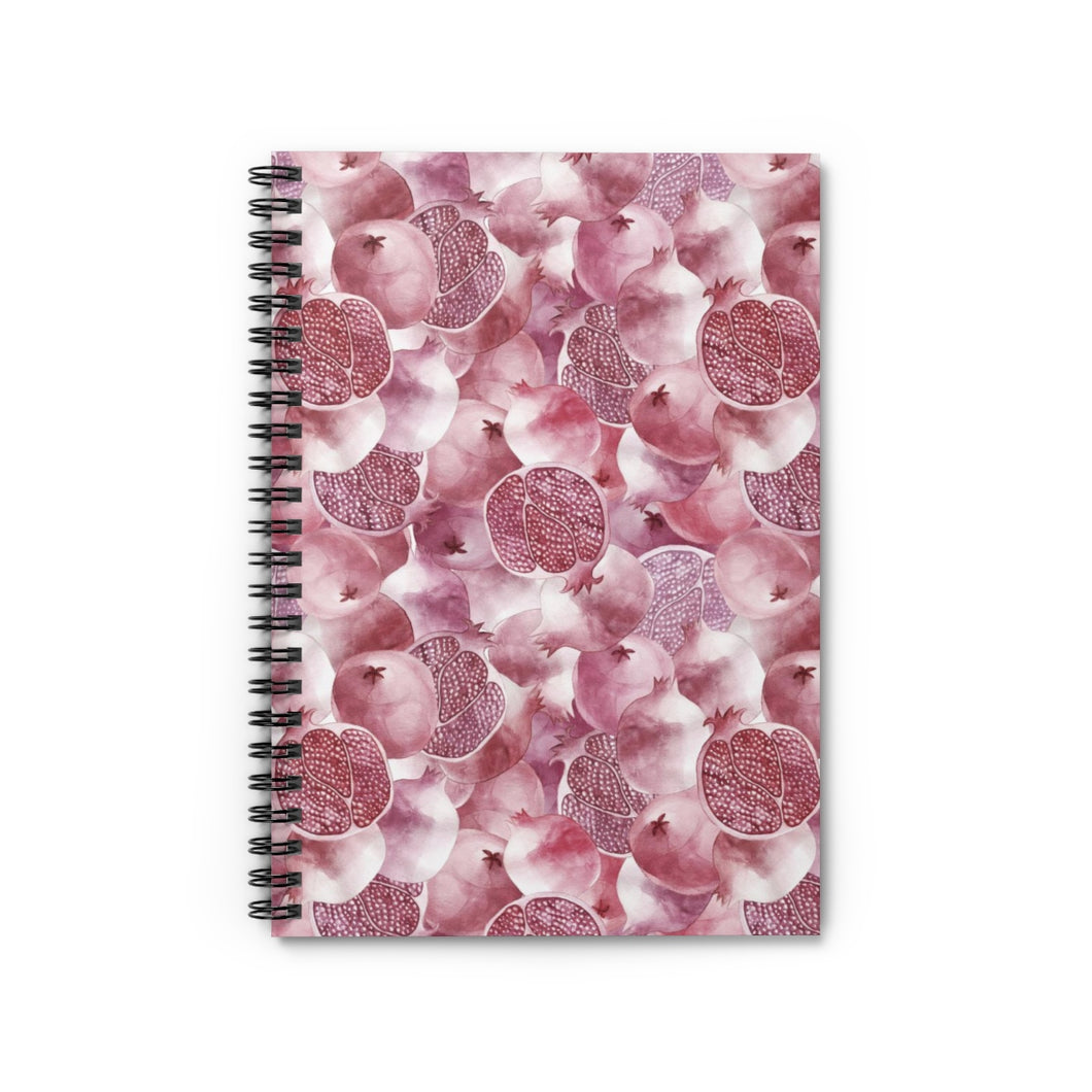 Spiral Notebook Ruled Line Garnet