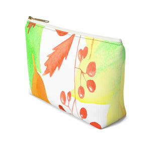 Accessory Pouch w T-bottom Autumn Leaves