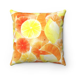 Spun Polyester Square Pillow Citrus