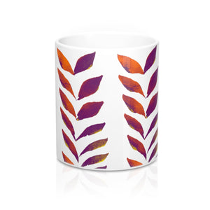 Mug Purple Leaves 11oz