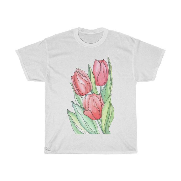 Women's Heavy Cotton Tee Tulips