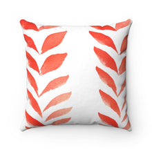Load image into Gallery viewer, Spun Polyester Square Pillow Red Leaves