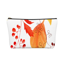 Load image into Gallery viewer, Accessory Pouch w T-bottom Autumn Leaves and Branches