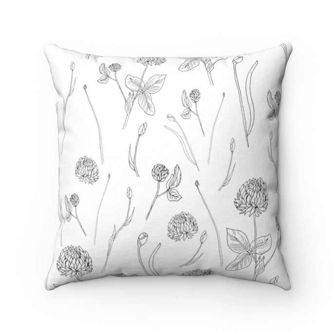 Spun Polyester Square Pillow Clover