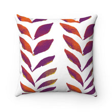Load image into Gallery viewer, Spun Polyester Square Pillow Purple Leaves