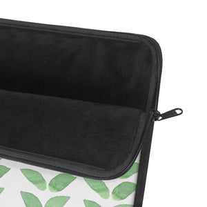 Laptop Sleeve Green Leaves