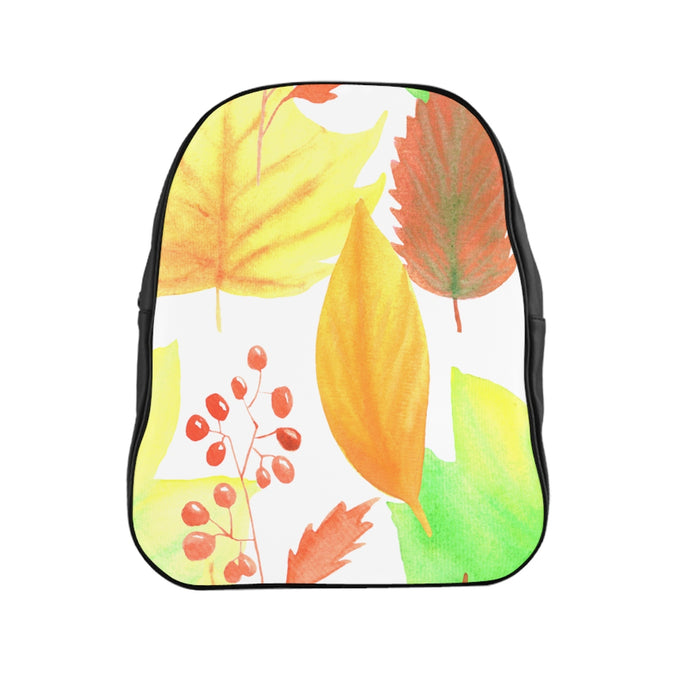 School Backpack Autumn Leaves
