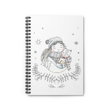 Load image into Gallery viewer, Spiral Notebook Ruled Line Winter Girl and Fox