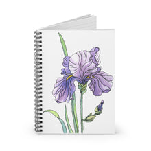 Load image into Gallery viewer, Spiral Notebook Ruled Line Iris