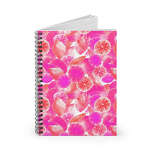Load image into Gallery viewer, Spiral Notebook Ruled Line Pink Citrus