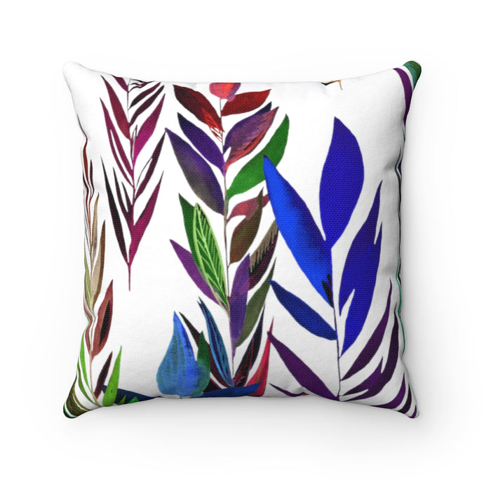 Spun Polyester Square Pillow Dark Branches