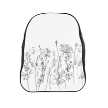Load image into Gallery viewer, School Backpack Wildflowers