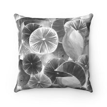 Load image into Gallery viewer, Spun Polyester Square Pillow Grey Citrus