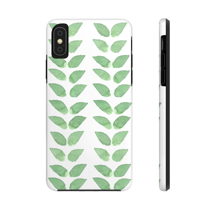Case Mate Tough Phone Cases Green Leaves
