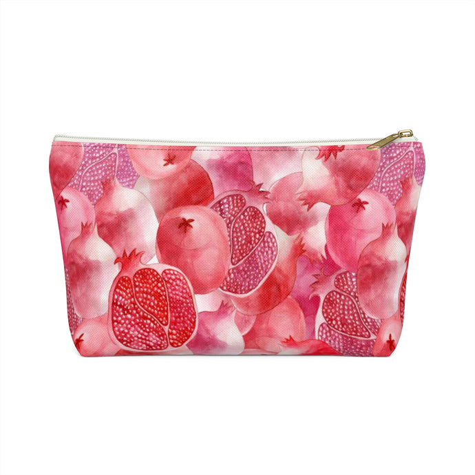 Accessory Pouch w T-bottom Red Garnet