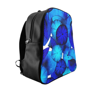 School Backpack Blue Citrus