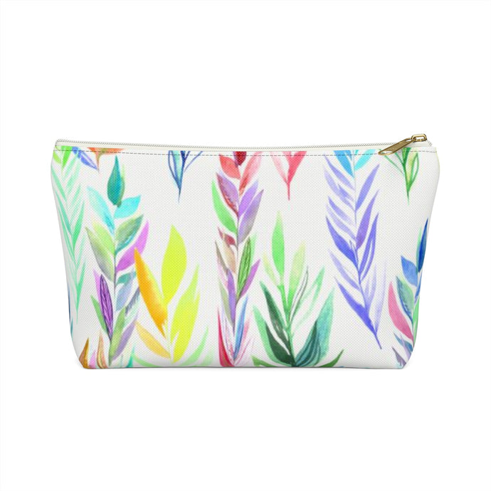Accessory Pouch w T-bottom Colorful Branches