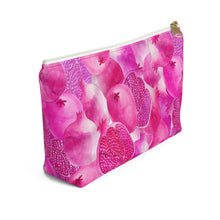 Load image into Gallery viewer, Accessory Pouch w T-bottom Pink Garnet