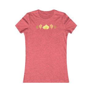 Women's Slim Fit Tee Autumn Leaves