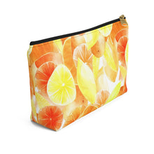 Load image into Gallery viewer, Accessory Pouch w T-bottom Citrus
