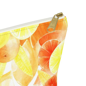 Accessory Pouch w T-bottom Citrus