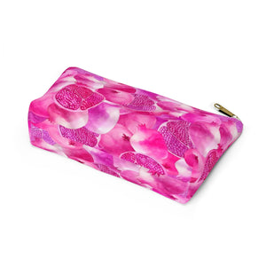 Accessory Pouch w T-bottom Pink Garnet