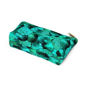 Accessory Pouch w T-bottom Green Garnet