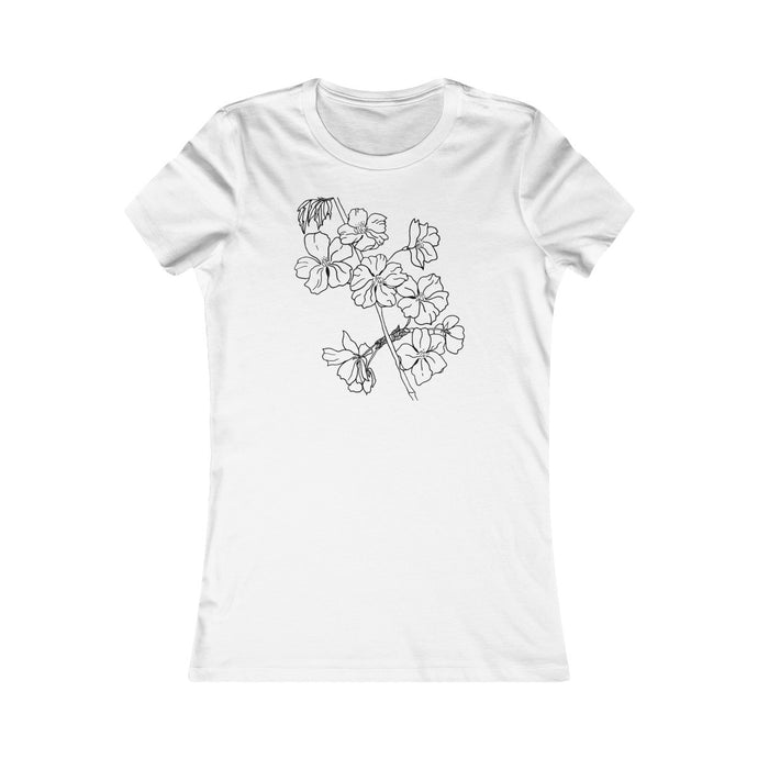 Women's Slim Fit Tee Cherry Branch