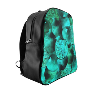 School Backpack Green Garnet