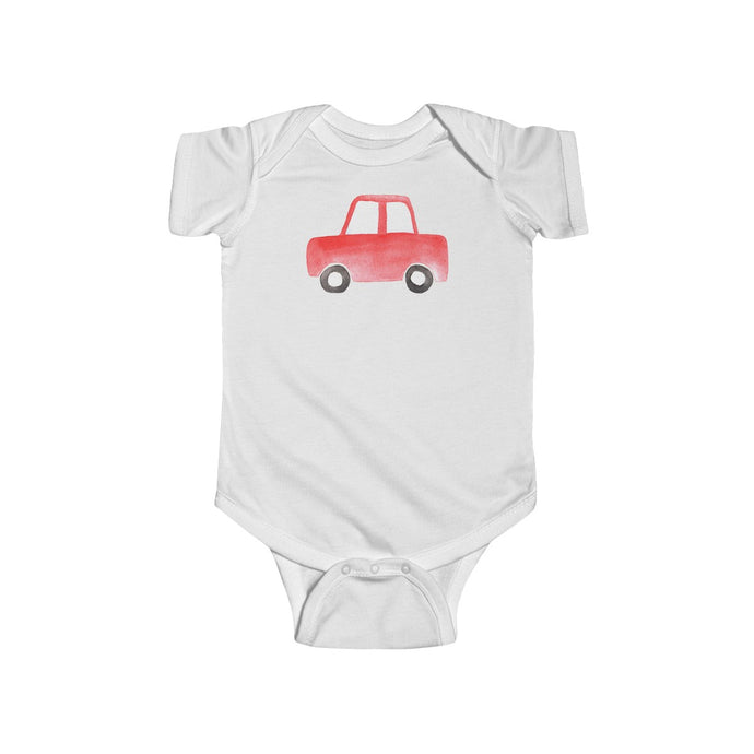 Infant Fine Jersey Bodysuit Red Car