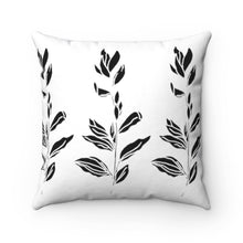 Load image into Gallery viewer, Spun Polyester Square Pillow Branch With Leaves